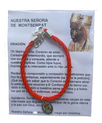 Imagen 1 de 1 de Pack 50 Pulsera Virgen De Montserrat, Cordón, Hecha A Mano.