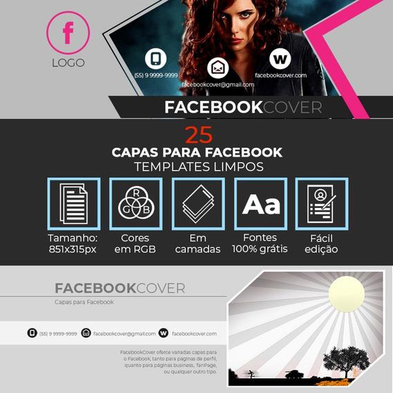 25 Capas Para Facebook Em Psd Editáveis - Frete Grátis