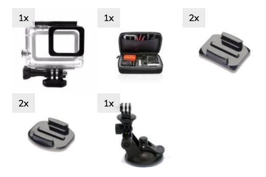Kit Aventura Gopro Hero 5 6 Black Adesivos Ventosa Estanque