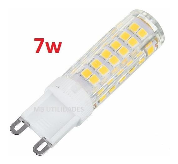 10 Lampada De Led Halopim G9 7w Para Lustres