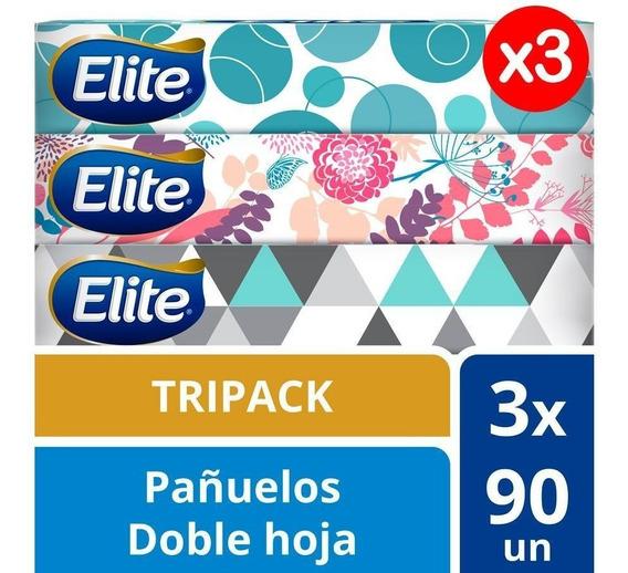 Pañuelo Facial Elite Tricpack Pack X 3 270und Tienda Oficia