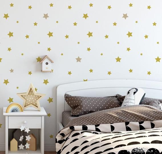 Stencil Lluvia Estrellas Plantilla Decorativa Para Pintar