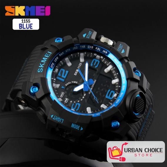 Reloj Deportivo Skmei 1155 Blue Analogico Y Digital