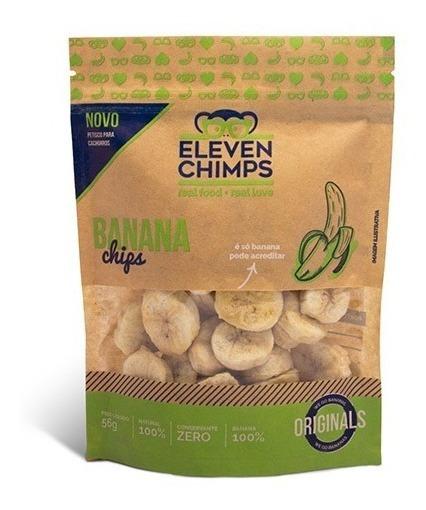 Eleven Chimps Petisco De Banana 56 Gr