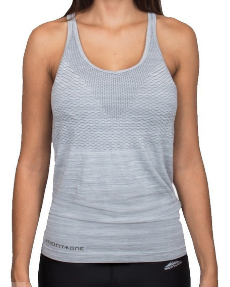 Musculosa Montagne Running Verona Gris Mujer