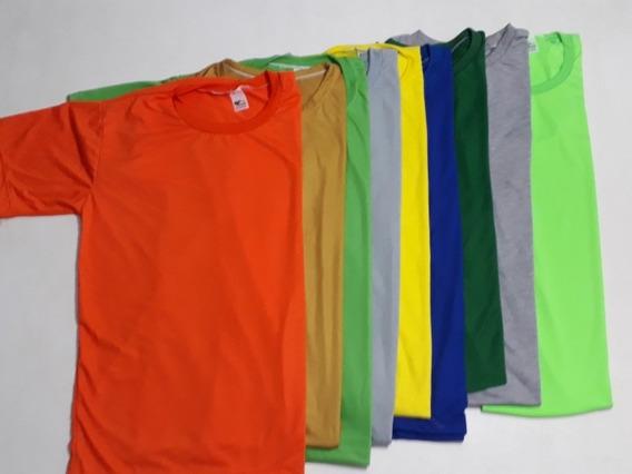Kit Com 10 Camisetas Coloridas
