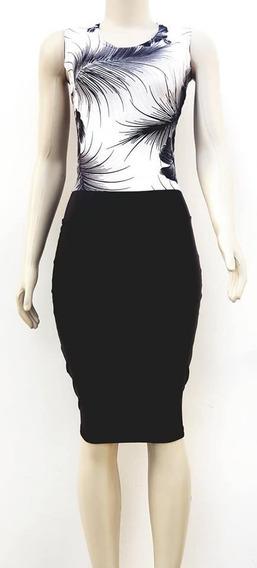 Vestido Tubinho Vestido Midi Moda Evangélica