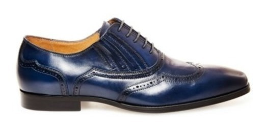 Zapatos Steve Madden Masque Blue Leather Hombre No. Masque