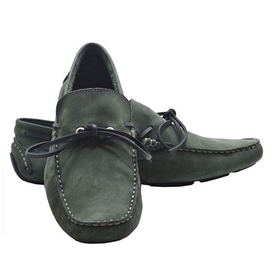 Sapato Masculino Mocassim Em Couro Legitimo Com Amarração