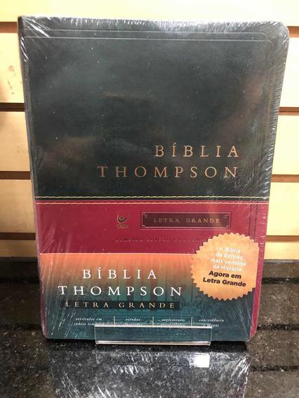 Biblia Estudo Thompson Letra Grande Verde E Vinho