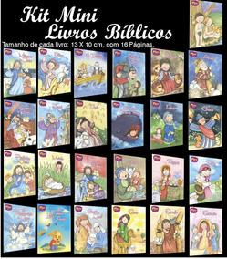 Kit Mini Livros Bíblicos - 100 Und - Todo Livro