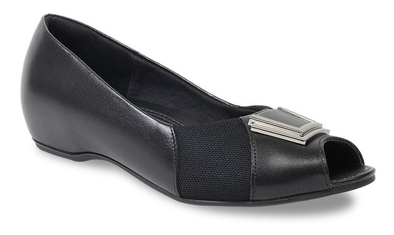 Sapato Peep Toe Usaflex Feminino Joanete N2289