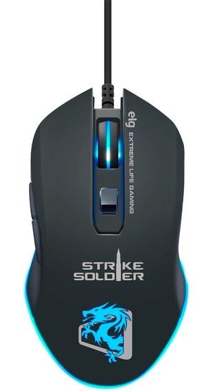 Mouse Gamer Strike Soldier 4800dpi Alta Precisão 7 Cores Led