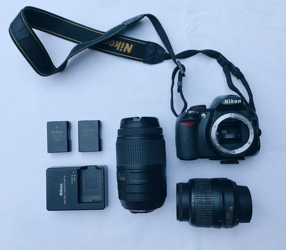 Nikon D3100 Com Duas Lentes