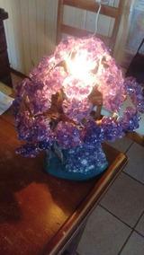 Luminária Rústica De Pedra Ametista