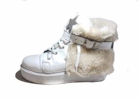 Calzado De Mujer, Zapatilla Abotinada Lola Roca Zapato Cuero