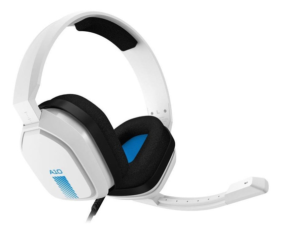 Fone de ouvido gamer Astro A10 white e blue