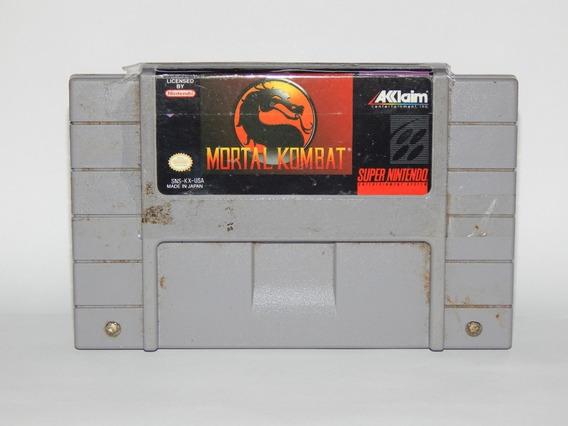 Mortal Kombat 1 Super Nintendo Snes Original