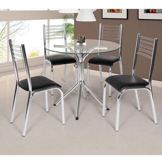 Conjunto De Mesa Com 4 Cadeiras - Camila - Ciplafe
