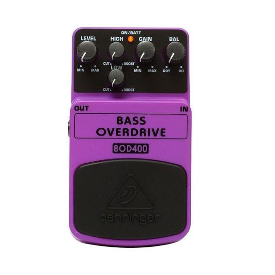 Pedal Para Baixo Behringer Bod400 Bass Overdrive