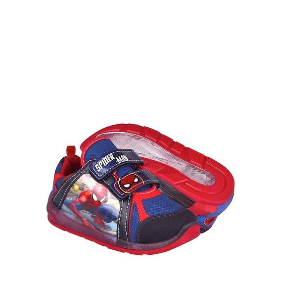 Tenis Casuales Para Niño Spiderman 8902 Rojo 15-17