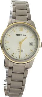 Reloj Mujer Tressa T-style Malla Titanio Sumergible 50m Calendario