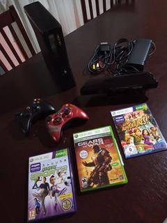 Xbox 360 Slim 250gb + Kinect + 2 Joystick + 7 Juegos