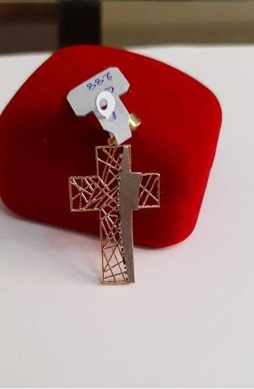 Pingente Cruz - Ouro 18k 750 Luxo Em Cada Detalhe!