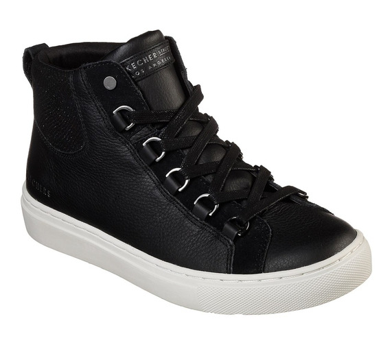 Bota Skechers Side Street - Negro - Mujer - 73581blk