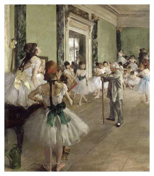Aula De Balé - Degas - 75x86 Tela Para Quadro
