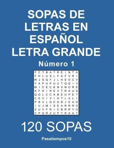 Sopas De Letras En Español Letra Grande - N. 1 (volumen 1)