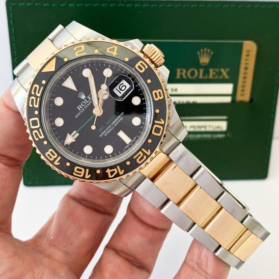 Rolex Gmt-master Ii Ouro & Aço Completo