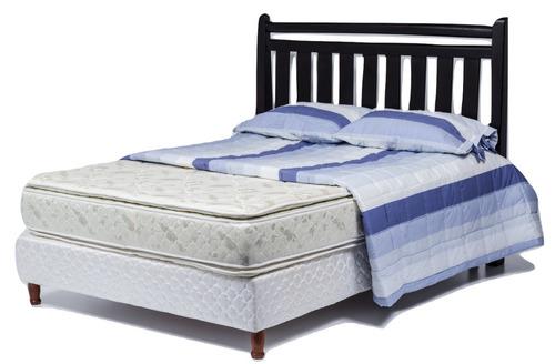 Imagen 1 de 8 de Sommier Con Doble Pillow 2 Plazas Somier - Kudam