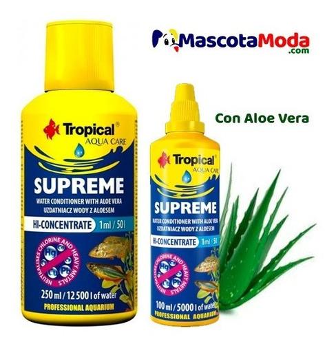 Imagen 1 de 1 de Supreme Acondicionador Agua Con Aloe Vera Uso Acuarios 100ml