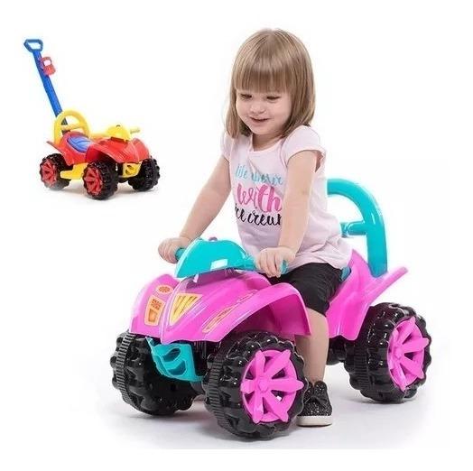 Quadriciclo Carrinho Velotrol Empurrador Bebê Infantil