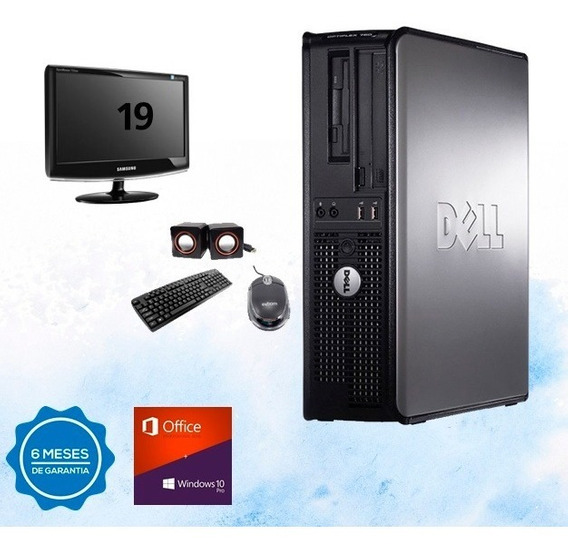 Dell Optiplex Completa Core2duo 4gb Ddr3 Hd 250gb Dvd