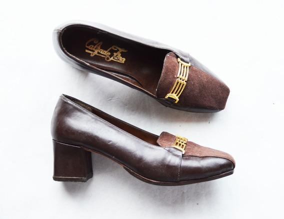 Zapatos Señora Cuero Vacuno Talle 36 (24 Cm) Calpada Fina Im