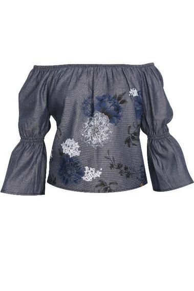 - Blusa Feminina Estampada Com Detalhes