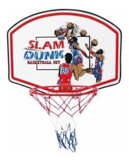 Mini Set De Basketball, Canasta, Aro Y Red, Slam Dunk