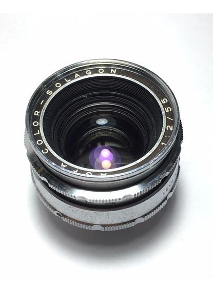 Agfa Ambiflex - Lente 55mm F2 Solagon - Rara!