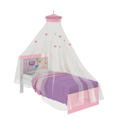 f75e1576a1 Cama Infantil Com Dossel Teto Happy Princesas Pura Magia por Estrela 10