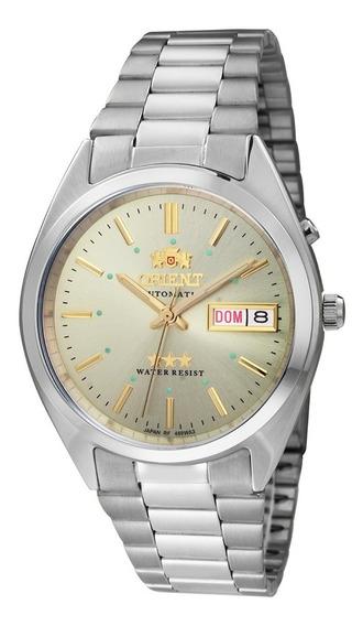 Relógio Orient Automático 469wa3c1sx 3 Estrelas Champanhe