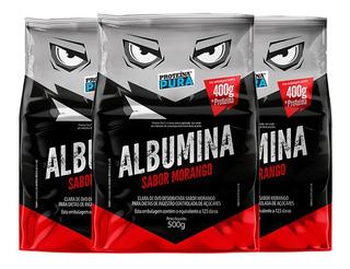 3x Albumina - 1500g - Proteína Pura - Claro Do Ovo + Com Nf