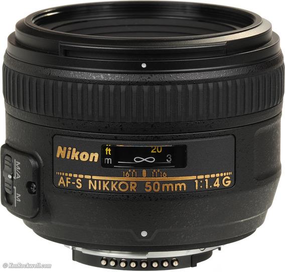 Lente Nikkor Af-s 50mm F1.4g