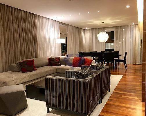 233 M2 Úteis. Condomínio Campo Belo Du Champ 4 Suites 4 Vagas - Ap9621