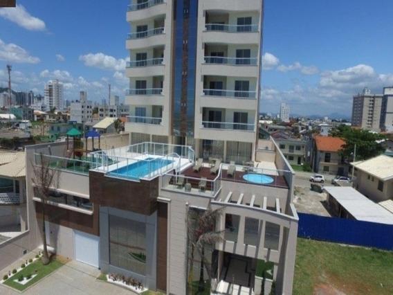 Lindo Apartamento Lateral Novo Em Prédio Frente Mar Em Navegantes - 3d368 - 34386350