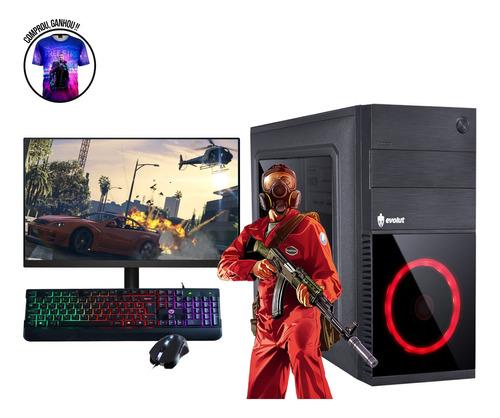 Imagem 1 de 9 de Pc Gamer Intel I5 8gb Ssd 240gb Monitor Mouse Teclado Gamer