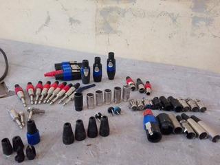 Lote Cables Speakon Cannon Plug Stereo Mono Rca Mic