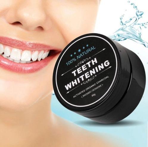Blanqueador Dental En Polvo Carbon Activo Mas Blancos