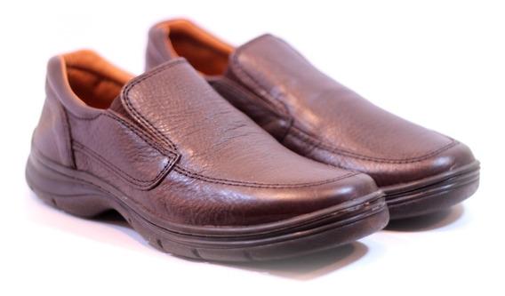 Zapatos Febo 5303 Mocasines Comfort Cuero Negro Y Marrón